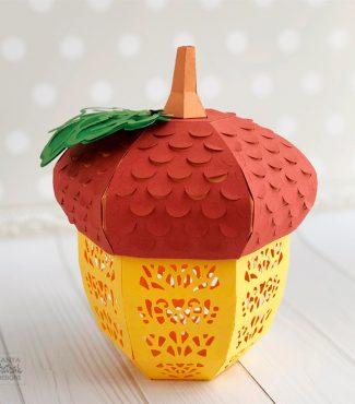 3D Paper Acorn Lantern