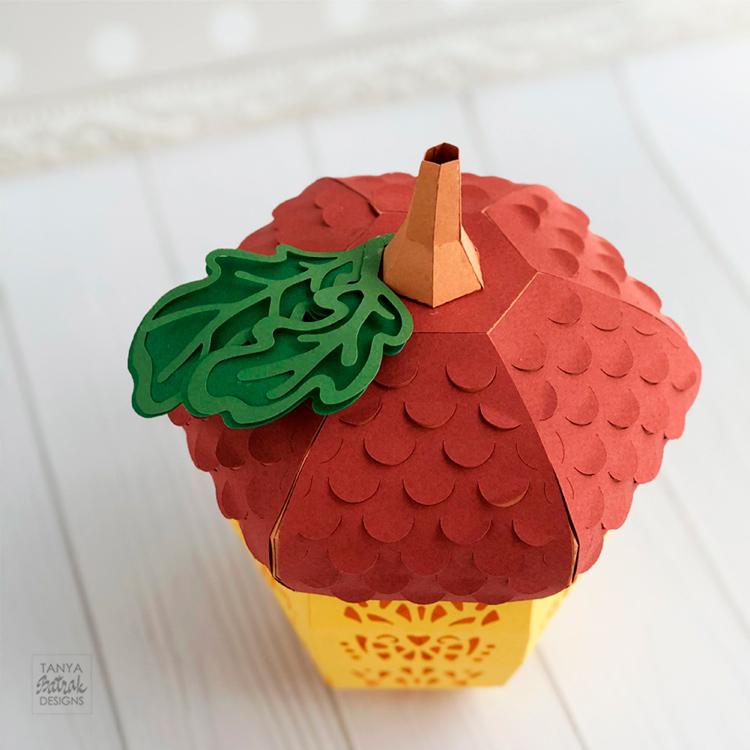 D Paper Acorn Lantern