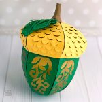 Big 3D Paper Acorn For Fall And Thanksgiving Decoration