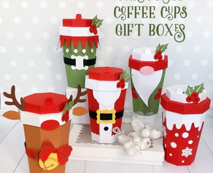 Christmas Coffee Cup Gift Boxes