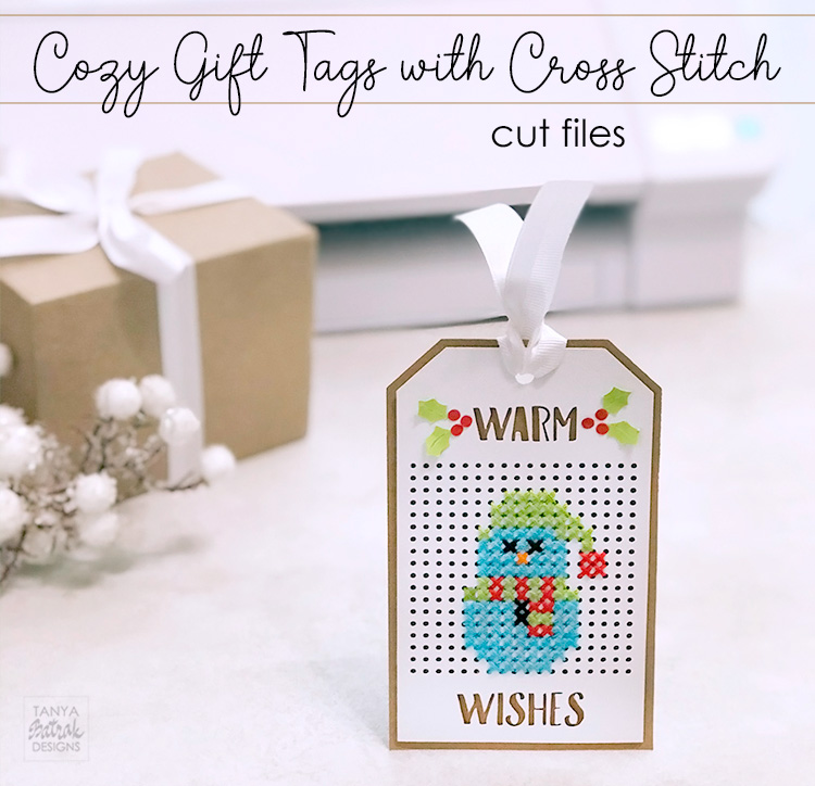 DIY Cozy Gift Tags with Cross Stitch