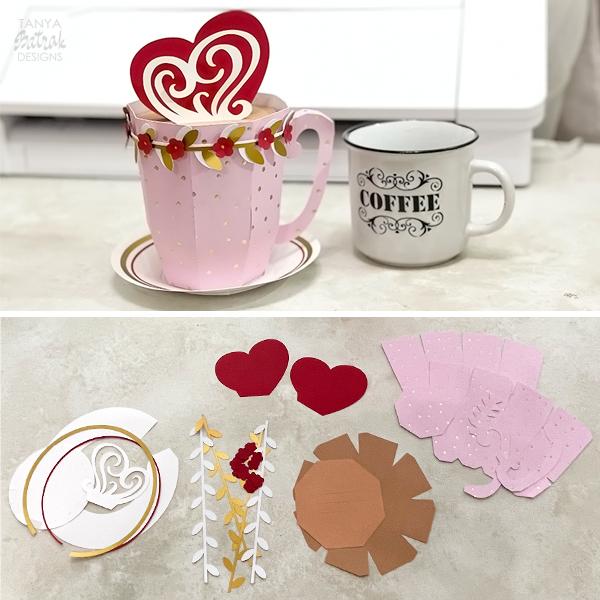 D Paper Mug Gift Box