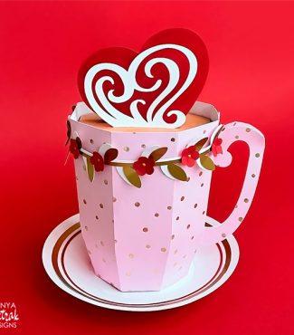 3D Paper Mug Gift Box