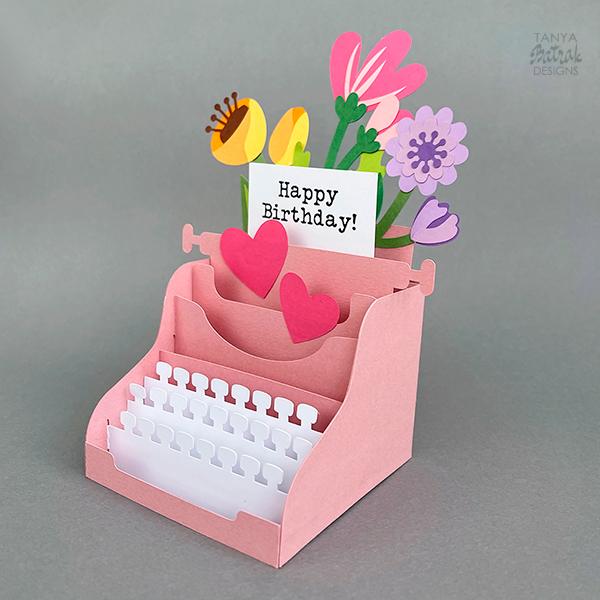 Typewriter Box Card