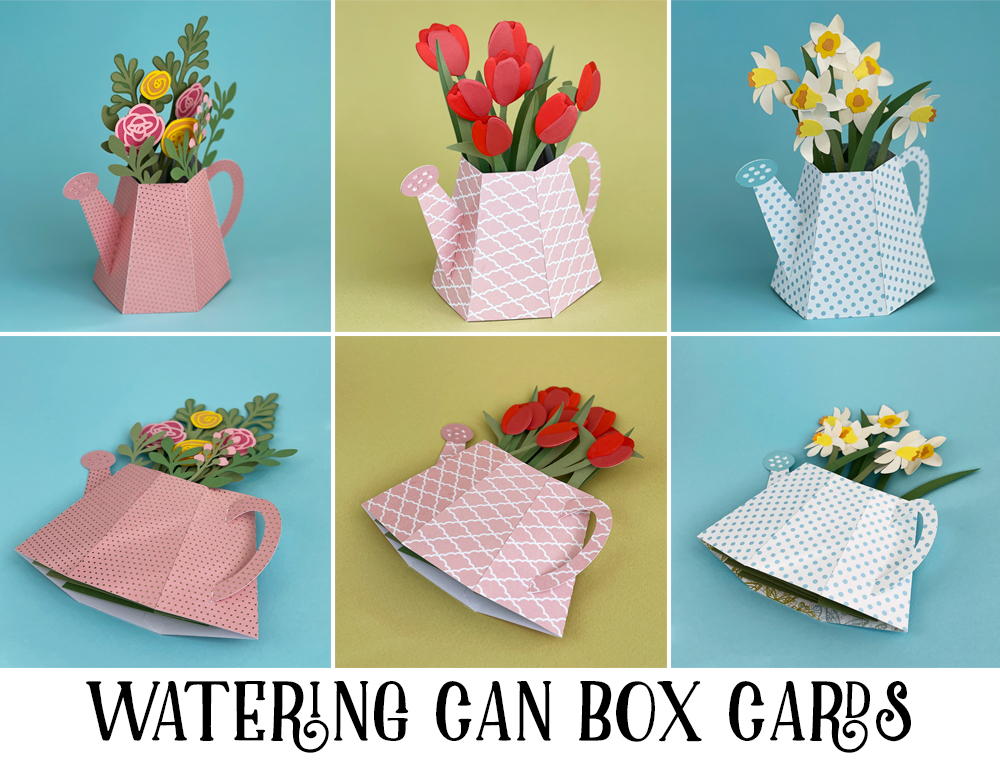 Watering Can Box Card
