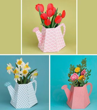 Watering Can Box Cards