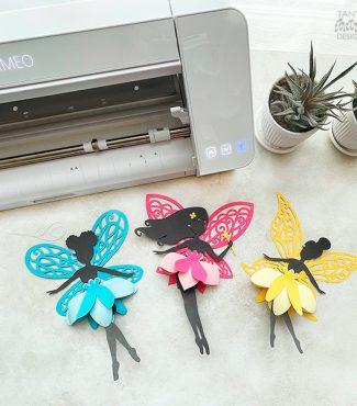 DIY Beautiful 3D Paper Fairies