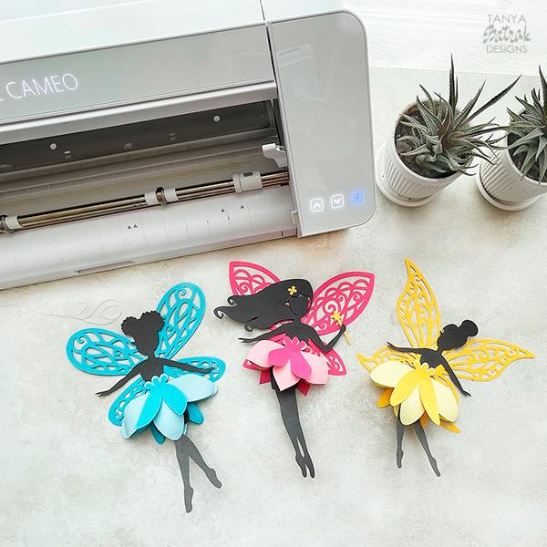 DIY Beautiful D Paper Fairies