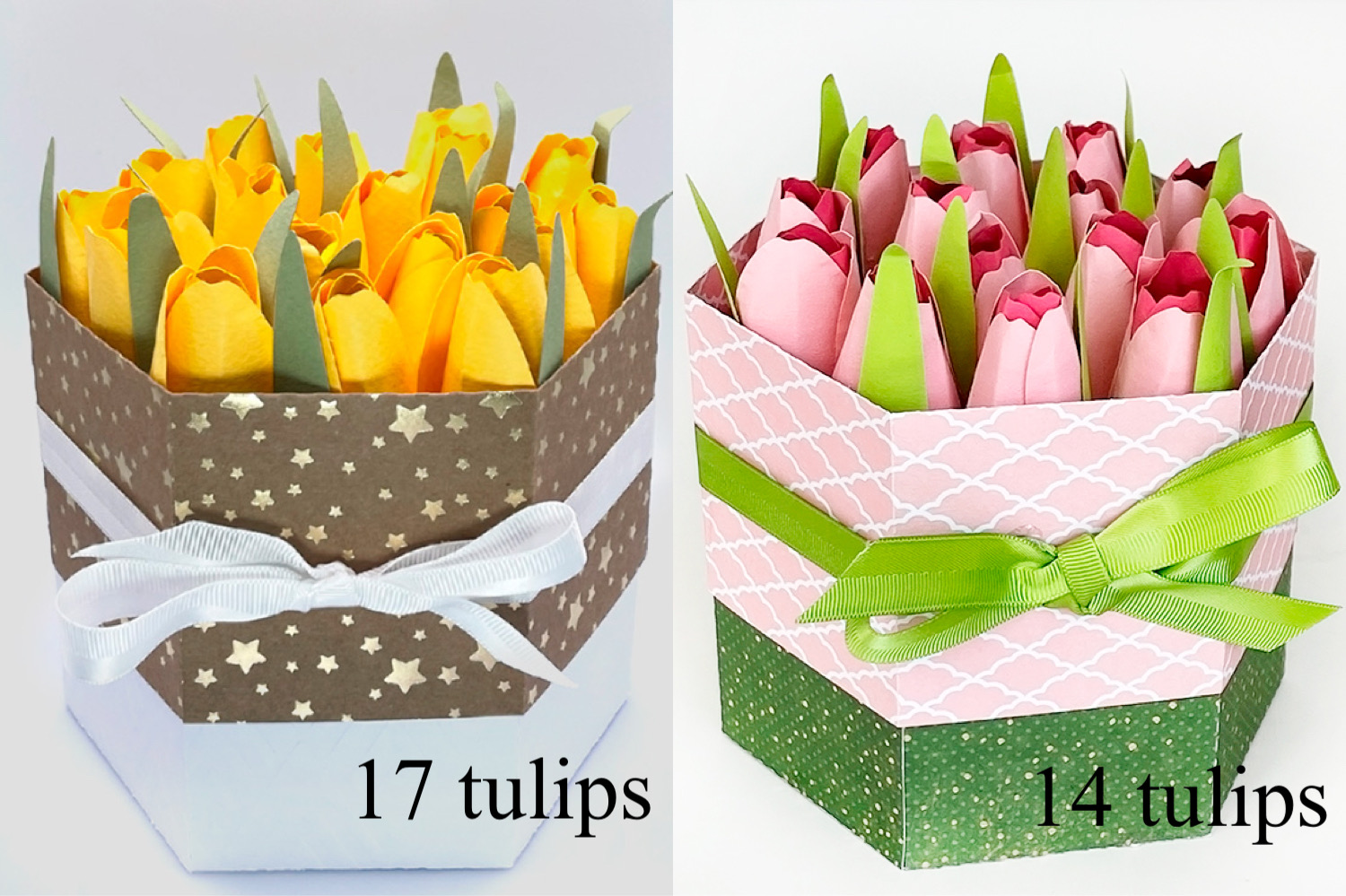 DIY Unique Gift Box with Paper Tulips